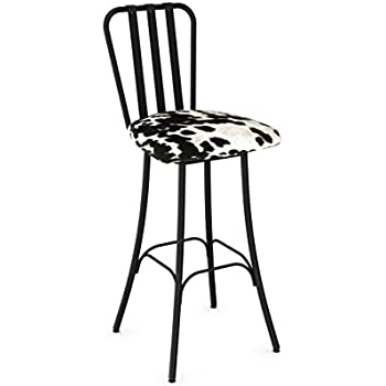 Amazon Com Amisco Swirl Screw Metal Stool In Semi