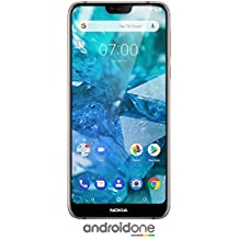 "Nokia 7.1 - Android One - 64 GB - 12+5 MP Dual Camera - Dual SIM Unlocked Smartphone (at&T/T-Mobile/MetroPCS/Cricket/H2O) - 5.84"" FHD+ HDR Screen - Steel - U.S. Warranty"