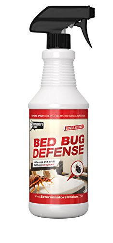 Bed Bug Defense Repellent Killer- By Exterminator's Choice- BedBug32oz , Effective Spray- Home Insect - Spray BedBugs| Essential Oils | All Natural Repellent