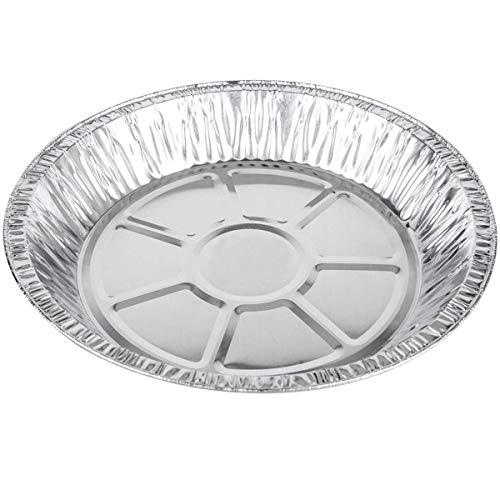 MM Foodservice Round Aluminum Foil Pie Pan, Disposable Tart Pan, 25 Pack (9