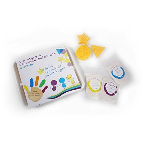 eco-kids Eco-Stamp and Sidewalk Paint Kit -