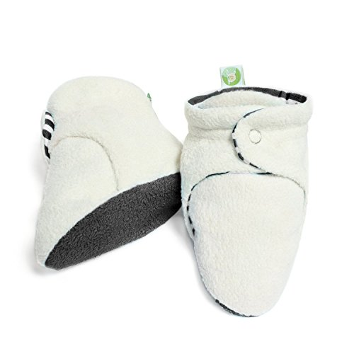 Bum Chicoo Unisex Soft Organic Cotton Baby Booties for New-Born and 3-4 Months Baby (3-4 Months, Grey)