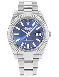 NEW Rolex Datejust II Stainless Steel and 18K White Gold Blue Dial Mens watch 116334 BLIO by Rolex