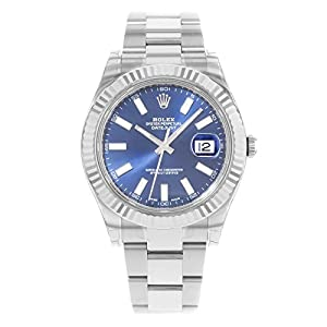 Best Epic Trends 41CgQouJtCL._SS300_ NEW Rolex Datejust II Stainless Steel and 18K White Gold Blue Dial Mens watch 116334 BLIO by Rolex