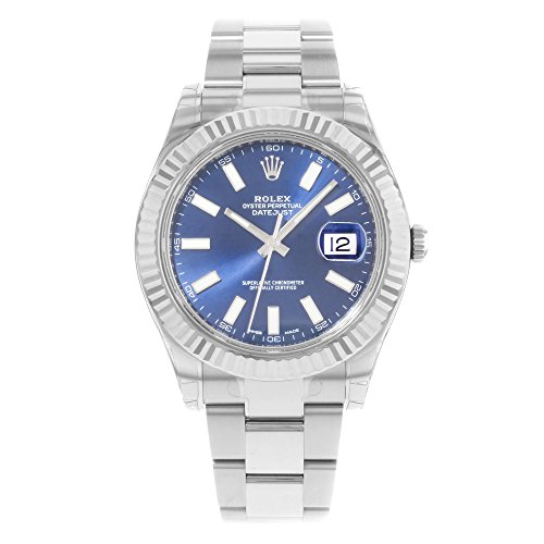 NEW Rolex Datejust II Stainless Steel and 18K White Gold Blue Dial Mens watch 116334 BLIO by Rolex ()