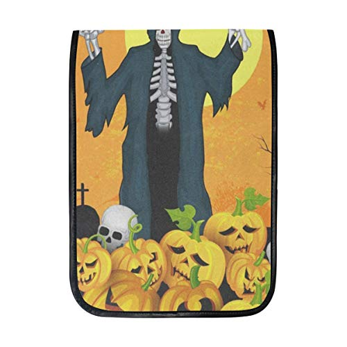 Ipad Pro 12-12.9 inch Sleeve Case Bag for Surface Pro Skelton with Pumpkin Halloween Mac Protective Carrying Cover Handbag for 11