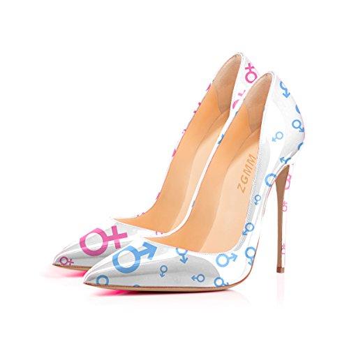 MMGZ - Zapatos de Vestir de Material Sintético Mujer 44 EU