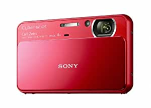 Sony Cyber-Shot DSC-T110 16.1 MP Digital Still Camera with Carl Zeiss Vario-Tessar 4x Optical Zoom Lens and 3.0-inch Touchscreen (Red)
