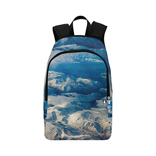 GIRLOS Aerial View Snowcapped Mountains Yukon Territory Casual Daypack Travel Bag College School Backpack for Mens and Women ()