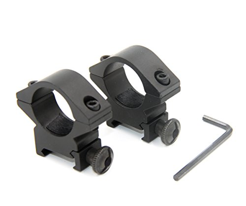 - JINSE 2pcs 1 inch/25.4mm Scope Rings 20mm Low Profile Ring Mount Picatinny Weaver Rail Mount