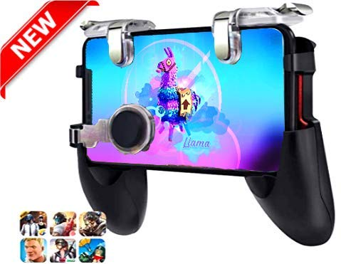 PUBG Mobile Game Controller & Best Shooting Trigger Model 2019 for iPhone Android | Comfortable Gamepad with Shooting Buttons for All Phones Rules of Survival Fortnite (Best Mobile Android Games 2019)