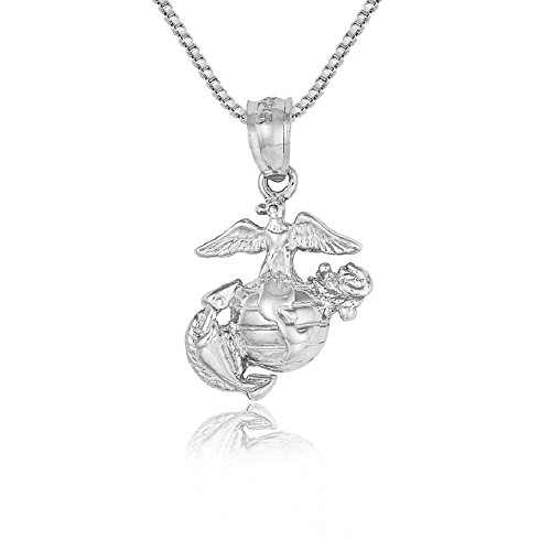 Marines eagle globe anchor top 10 results sterling silver marines eagleglobeanchor charm pendant made in usa aloadofball Choice Image