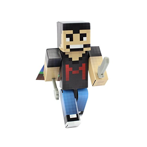 [EnderToys Master Miner Man Action Figure Toy, 4 Inch Custom Series Figurines] (Gold Miner Costume Accessories)