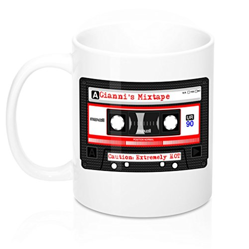 Gianni's Mixtape. Funny Cool, Large Personalized Coffee Mug With Name. Best Name Gift For Men, Males, Birthday. Custom Ceramic Home,Travel, Camping Personal Tea Cup. 11 ()