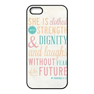 Painted Bible Verse PC Hard back phone Case cover Iphone 5s 5