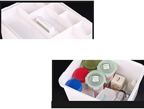 救急箱 薬箱 薬ケース お薬 箱 収納ケース 応急ボックス 収納ボックス 薬収納 取っ手付き 持ち運びしやすい 大容量多機能収納ケース 道具箱 22*28*18cm 17*23*16cm グリーン ブルー