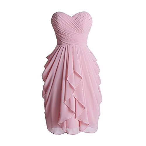 Wedtrend Womens Sweetheart Ruched Bridesmaid Dress Short Prom Gown WT10110BlushSize8