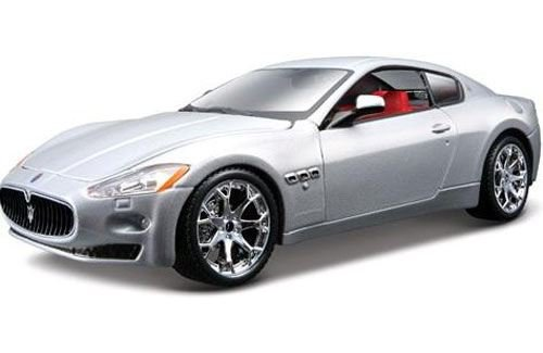 bburago-124-maserati-granturismo-silver-model-124-scale-collectible