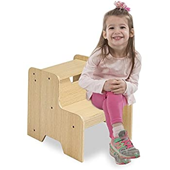 Amazon Com Kidkraft Two Step Stool Natural Toys Amp Games