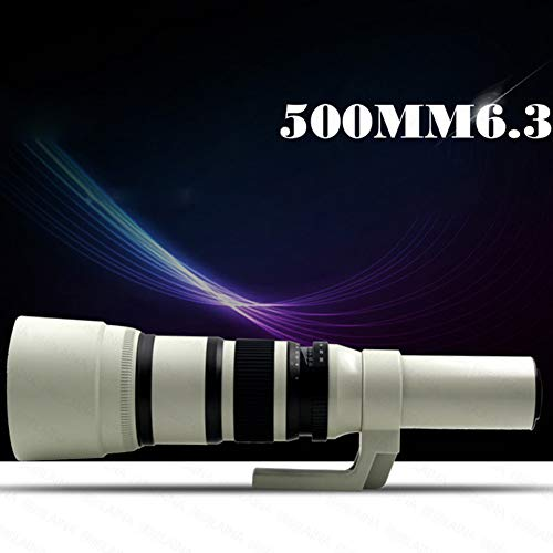 High-Power 500mm/1000mm f/6.3 Manual Telephoto Lens for Canon EOS Nikon Digital SLR Camera,E