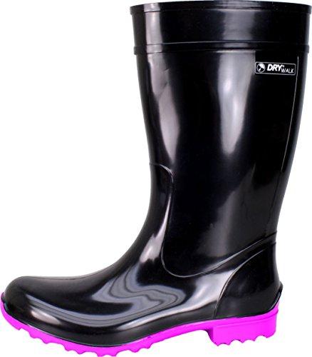 BOCKSTIEGEL® LUISA - Botas de Goma con Estilo | Mujer | Tallas: 36-42 Black/Fuchsia
