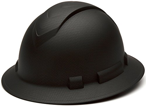 Pyramex Full Brim RIDGELINE Patterned Hard Hat with 6 Point Ratchet Suspension and Hard Hat Tote - Gray Graphite