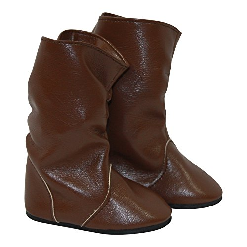 Brown Faux Leather Boots Fits 18 inch American Girl Dolls