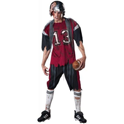 InCharacter Costumes Men's Dead Zone Zombie Costume, Red/Grey,