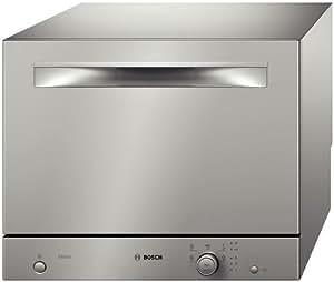 Bosch SKS50E18EU - Lavavajillas pequeño (A+ B, 7,5 litros, 0,62 kWh, 52 dB, 60 cm), color plateado