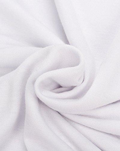 ZANZEA Mujeres Blusa Casual con Tirantes y Mangas Cortas Volantes Blanco