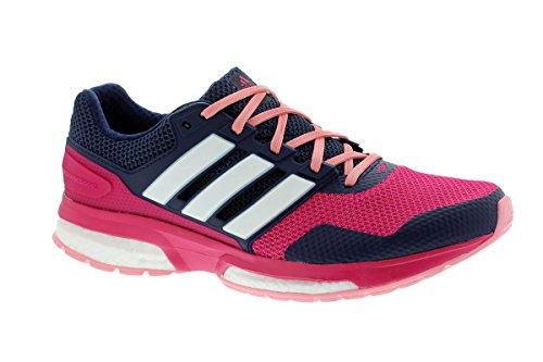 adidas Response Boost 2 W - Zapatillas para mujer Azul marino / Fucsia / Blanco