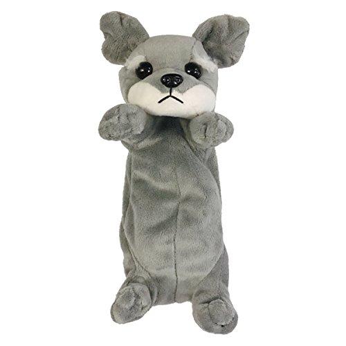 Wrapables Cute Puppy Pouch Plush Pencil Case, Schnauzer