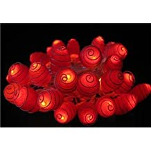 1 Set of Lighting String 35 Natural Silk Cocoon Lights Set Lamp Red Color Home Decoration, Living Room, Yard Garden, Patio Both Indoor and Outdoor of Birthday, Christmas, New Year, Graduation, Valentine, Wedding Anniversary, Ceremony Party