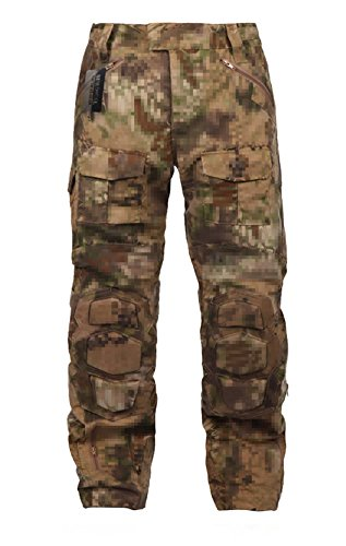 (ZAPT Tactical Ripstop Combat Pants with Knee Protector Airsoft Paintball Military Camo Uniform Army Camouflage Trousers (Nomad Camo, 40))