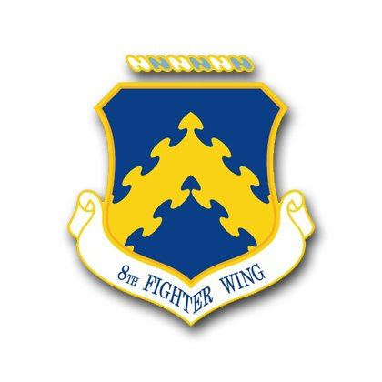 MilitaryBest US Air Force 8th Fighter Wing Decal Sticker 3.8