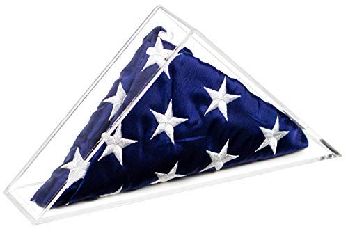 Deluxe Clear Acrylic American Flag Memorabilia Display Case Small 2' x 3 or 3' x 5' Flag (A050)