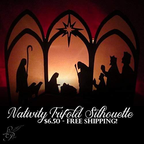 Nativity Trifold Silhouette - Manger Scene]()