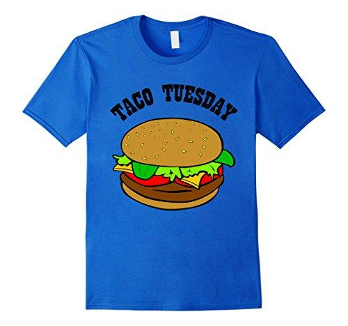 Mens Hilarious Funny Joke Taco Tuesday Hamburger T-shirt Gift XL Royal Blue (Hamburger Gifts)