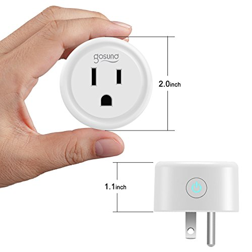 Smart plug, Gosund Mini Wifi Outlet Compatible with Alexa, Google Home & IFTTT, No Hub Required, Remote Control your home appliances from Anywhere, ETL Certified (4 packs) by Gosund (Image #4)