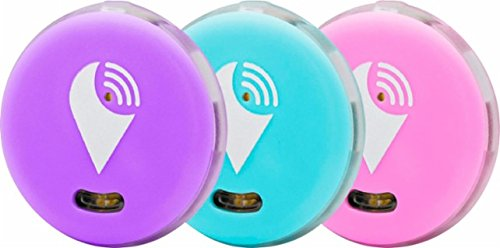 TrackR pixel - Bluetooth Tracking Device. Item Tracker. Phone Finder. iOS/Android Compatible - 3 Color, Aqua, Purple, & Pink. by TRACKR INC