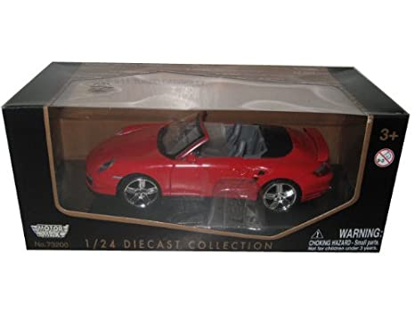 Porsche 911 997 Turbo Cabriolet Red 1:24