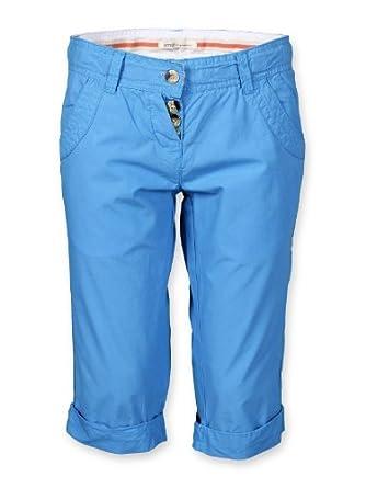 Mädchen 3 4 Hose Shorts Bermuda mit Gürtel Caprihose kurze Hose Sommerhose  blau weiß khaki 3fcfb7e5fe