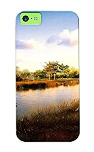 CEsgbVA858FkAqk Special Design Back Birds Over The Pond Phone Case Cover For Iphone 5c