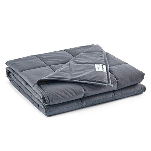 Cheap Weighted Blanket 7lbs 40 x60 - Heavy Blanket with 100% Cotton and Glass Beads Ideal for Youth & Kids Between 50 to 80 lbs Black Friday & Cyber Monday 2019