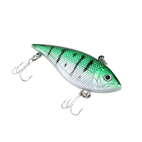 7cm 12g VIB Vibration Hard Fishing Lure with 2 Treble Hooks Perch Killer Fishing Bait Pesca Fishing Tackle Type E