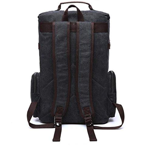 Fur Jaden Black Canvas Travel Backpack (Black)  Amazon.in  Bags ... 00841f46493aa