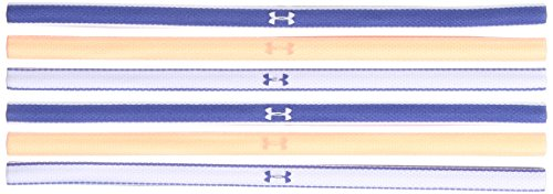 (Under Armour Girls Mini Headbands - 6 Pack ,Deep Periwinkle (178)/White, One Size)