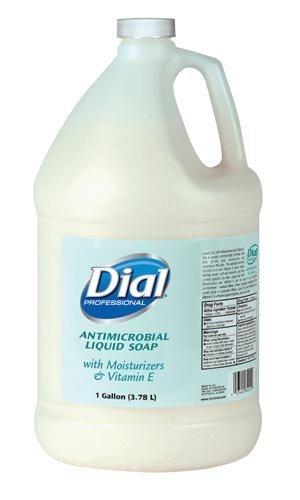 DIAL LIQUID SOAP WITH MOISTURIZERS & VITAMIN E Liquid Soap, w/ Moisturizers, 1 Gallon, 4/cs (48 cs/plt) by Dial Corporation