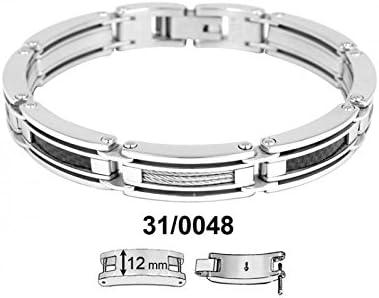 Phebus 310048 Bracelet Homme Acier Inoxydable Câble