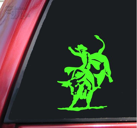 Bull Rider Riding Rodeo Vinyl Decal Sticker (8